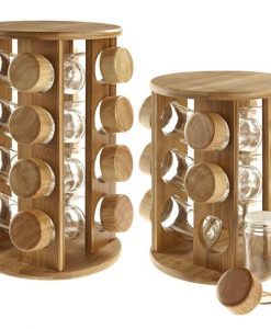 Wooden Spice Container 16 Pieces Set