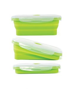 Pack Of 3 - Portable Folding Silicone Lunch Box
