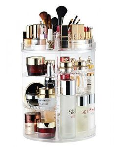 Rotating 360 Degree Crystal Jewelry Cosmetic Perfumes Makeup Organizer Display Stand