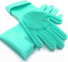 Silicone Gloves with Scrubber